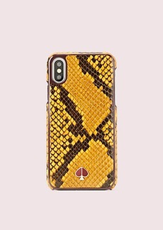 Kate Spade snake embossed iphone xs case