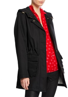 Kate Spade Snap-Front Hooded Trench Coat