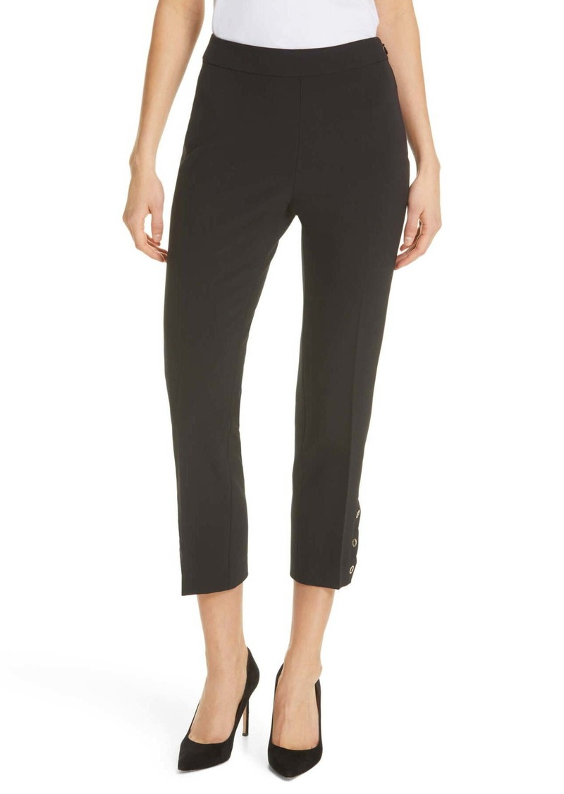 Kate Spade snap hem crop pants