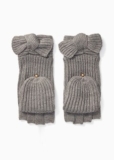 Kate Spade solid bow pop top mittens