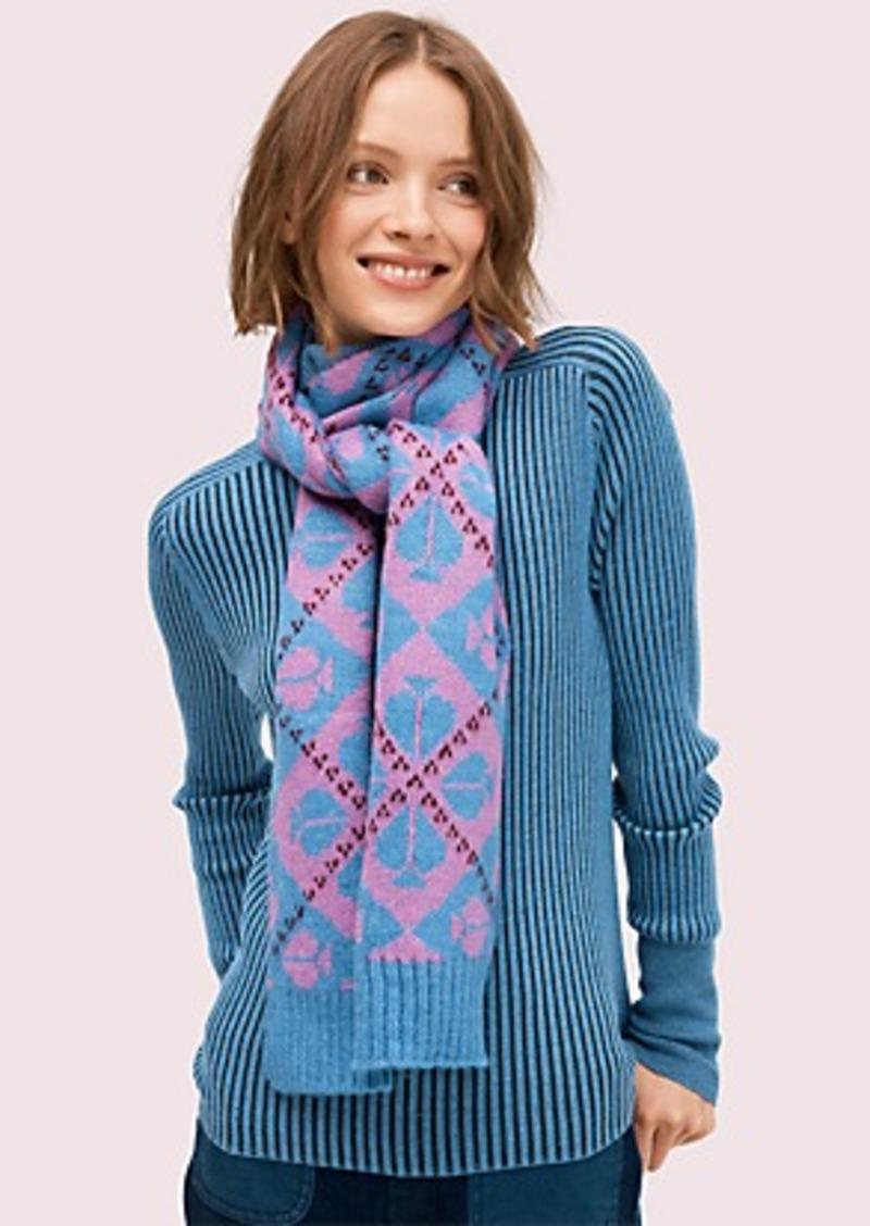 Kate Spade spade argyle scarf