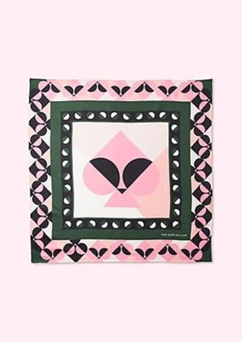 Kate Spade spade border silk square
