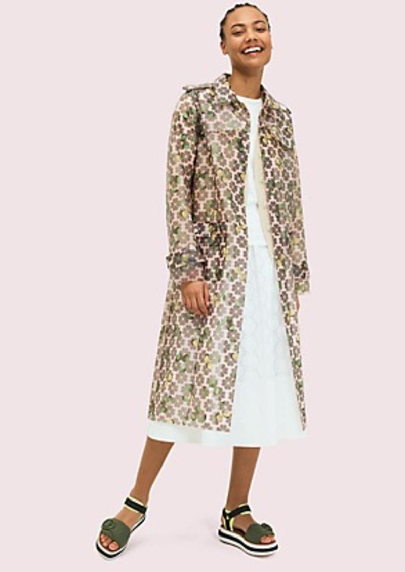 Kate Spade spade cherry translucent coat