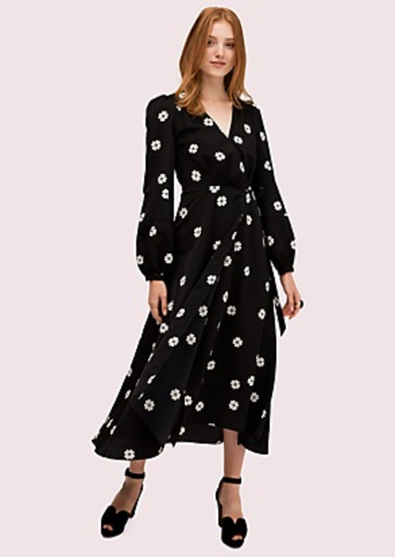 Kate Spade spade clover toss wrap dress