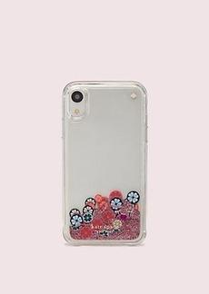 Kate Spade spade flower liquid glitter iphone xr case