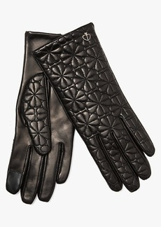 Kate Spade Spade Flower Quilted Leather Gloves