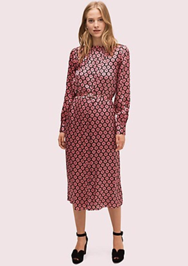 Kate Spade spade flower ruffle shirtdress