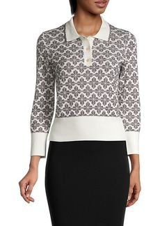 Kate Spade Spade Flower Short Polo Sweater