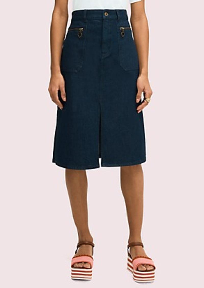 Kate Spade spade zip denim skirt