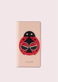Kate Spade spademals lucky ladybug iphone x & xs folio case