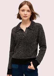 Kate Spade sparkle polo sweater