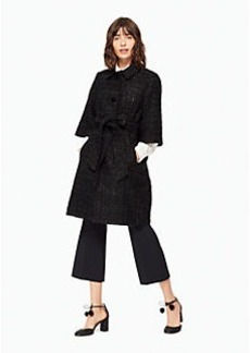 Kate Spade sparkle tweed belted coat
