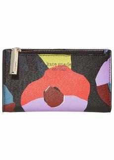 Kate Spade Spencer Floral Collage Small Slim Bifold Wallet