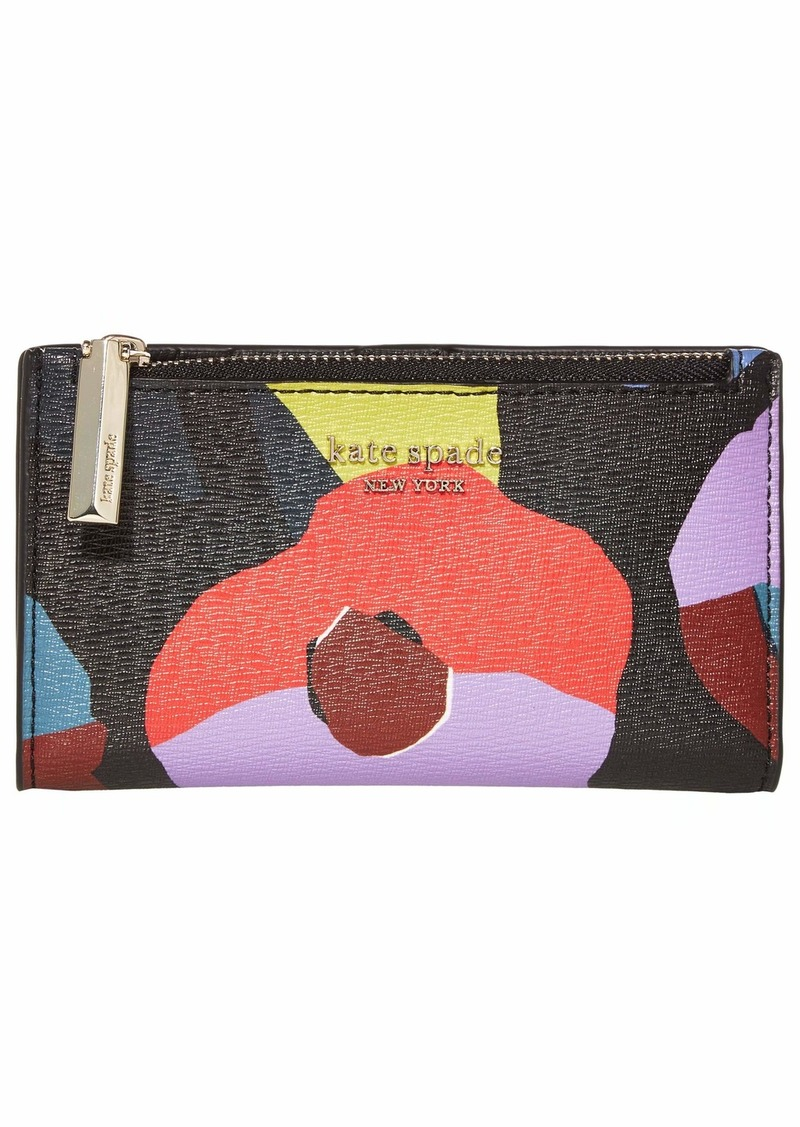 Kate Spade Spencer Floral Collage Small Slim Bifold Wallet