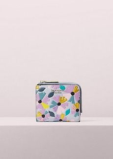 Kate Spade spencer glitter floral small bifold wallet