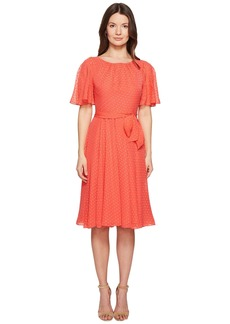 Kate Spade Spice Things Up Clipped Chiffon Dress