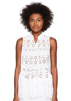 Kate Spade Spice Things Up Eyelet Sleeveless Top