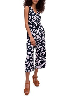 Kate Spade Splash Tie-Waist Cropped Jumpsuit