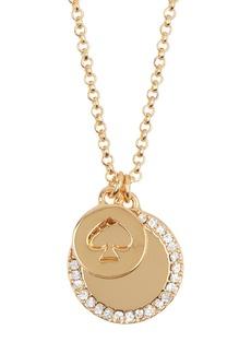 Kate Spade spot the spade pave cz charm pendant necklace