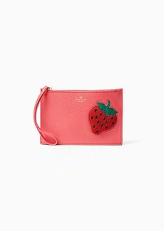 Kate Spade strawberry mini leather wristlet