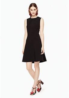 stretch crepe flip dress
