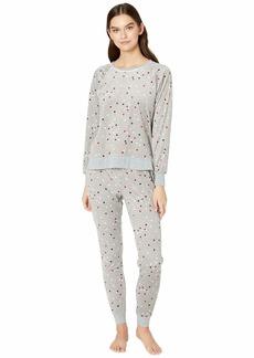 Kate Spade Stretch Velour Jogger Pajama Set