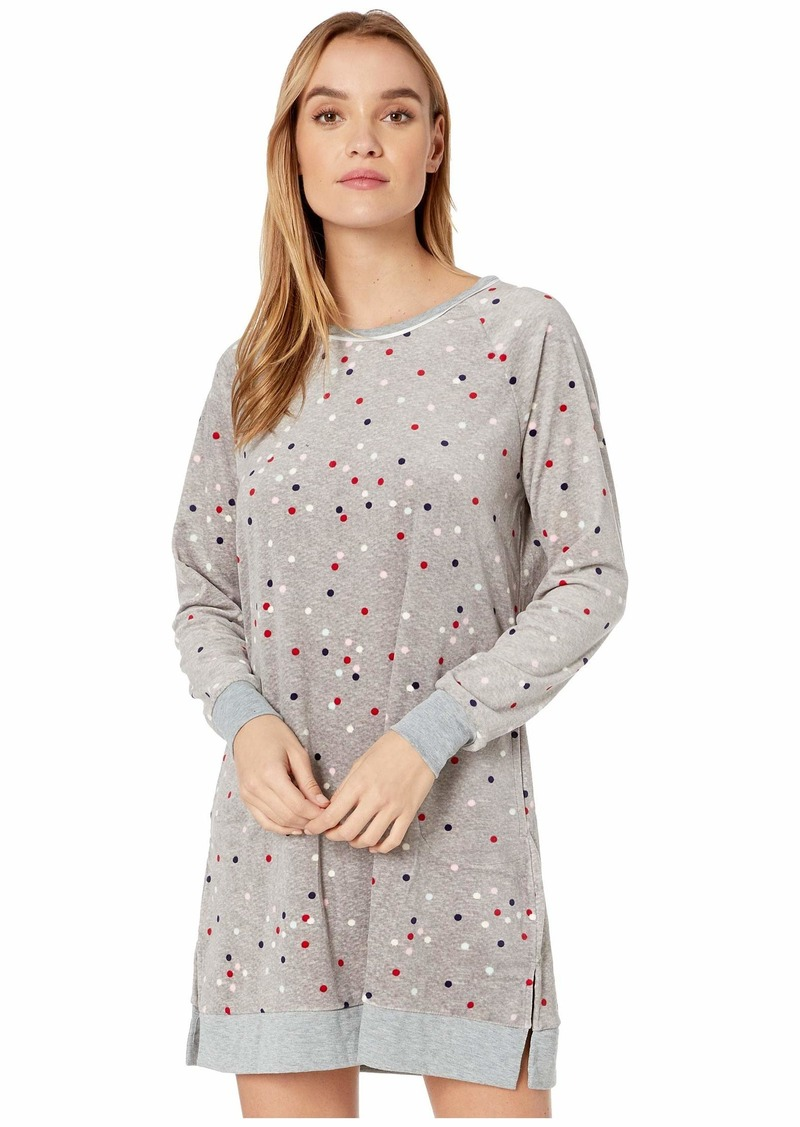 Kate Spade Stretch Velour Long Sleeve Sleepshirt