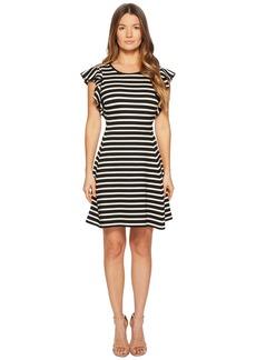 Kate Spade Stripe Flutter Sleeve Dress