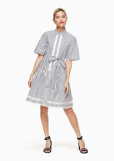 Kate Spade stripe lace inset shirtdress