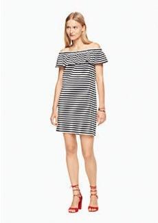 Kate Spade stripe off the shoulder dress