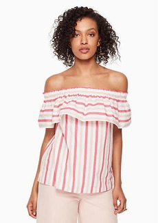 Kate Spade stripe off the shoulder top