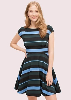 Kate Spade stripe ponte fiorella dress
