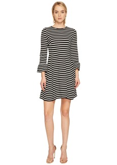 Kate Spade Stripe Ponte Fit and Flare Dress