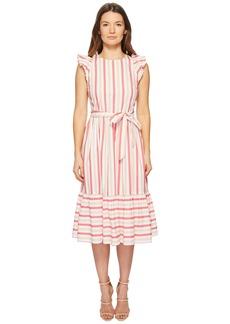 Kate Spade Stripe Poplin Midi Dress