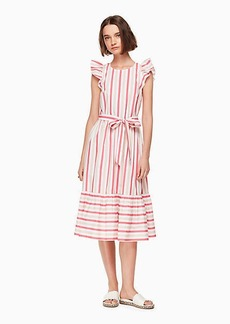 Kate Spade stripe poplin midi dress