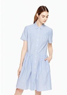stripe poplin swing shirtdress