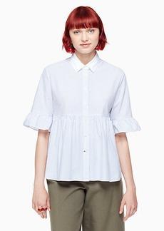 Kate Spade stripe ruffle sleeve shirt
