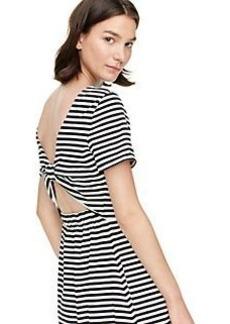stripe twist back dress