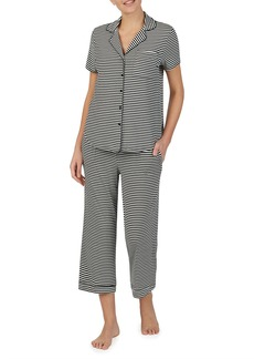 Kate Spade striped crop pajama set