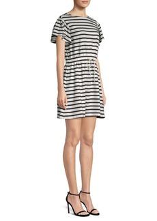 Kate Spade Striped Drawstring Dress