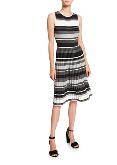 Kate Spade striped sleeveless sweater dress