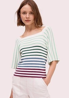 Kate Spade striped square neck sweater