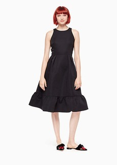 structured fit and flare dress