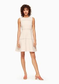 studded crepe dress