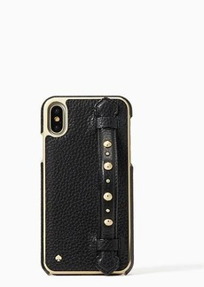 Kate Spade studded hand strap stand iphone x case