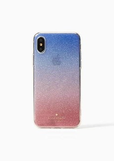 Kate Spade sunset glitter ombre iphone x case
