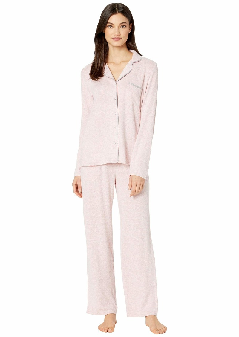 Kate Spade Sweater Knit Jersey Long Pajama Set