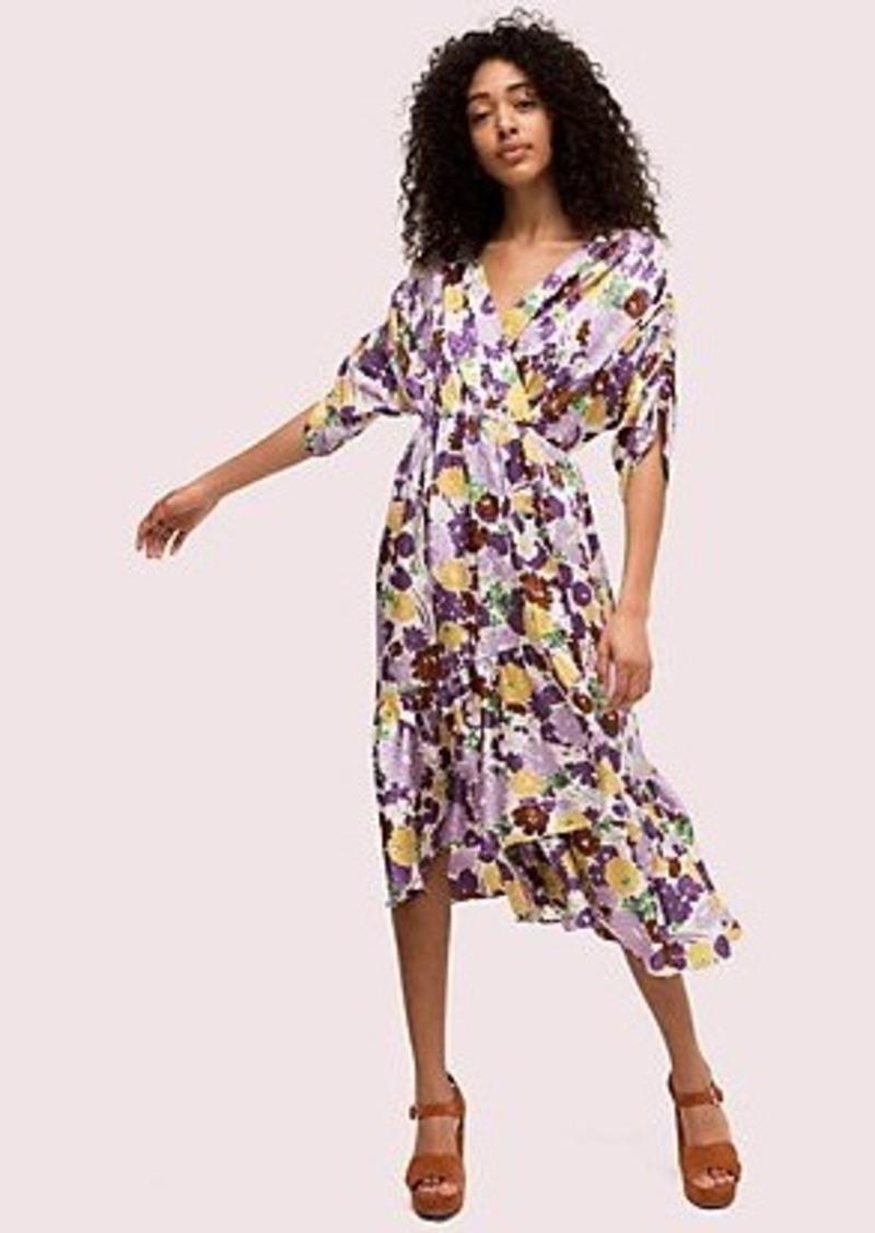 Kate Spade swing flora jacquard dress