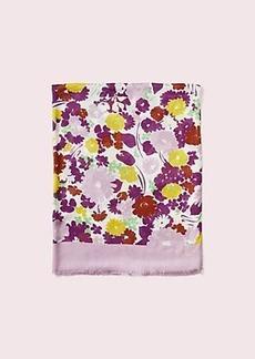 Kate Spade swing flora oblong scarf