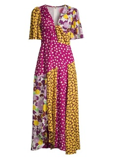 Kate Spade Swing Floral Patchwork Maxi Dress